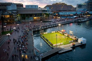 Sydney Football Festival, Big issue, walcon marine, on water sport events