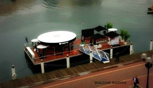 Floating corporate event by Walcon Marine