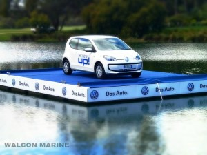 Floating stage by Walcon Marine