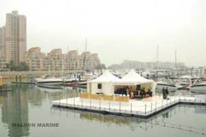 Floating stage, Gold Coast boat show, by Walcon Marine