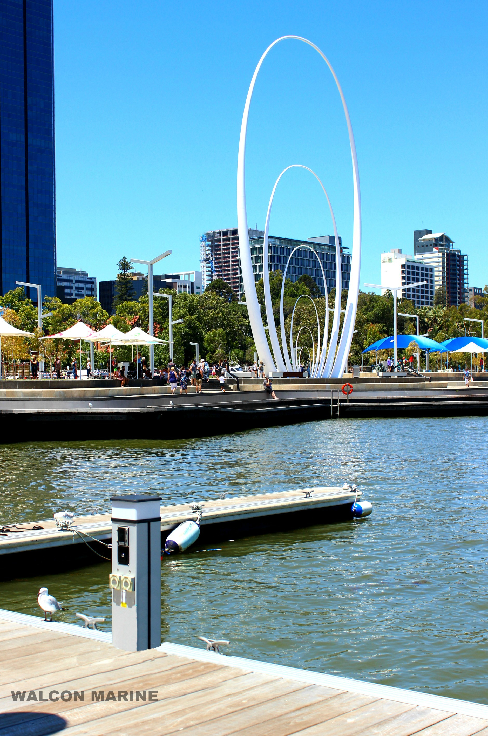Elizabeth Quays, Perth. By Walcon Marine